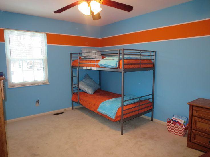 Boys room orange and blue behr paint colors orange burst - Paint color schemes for boys bedroom ...