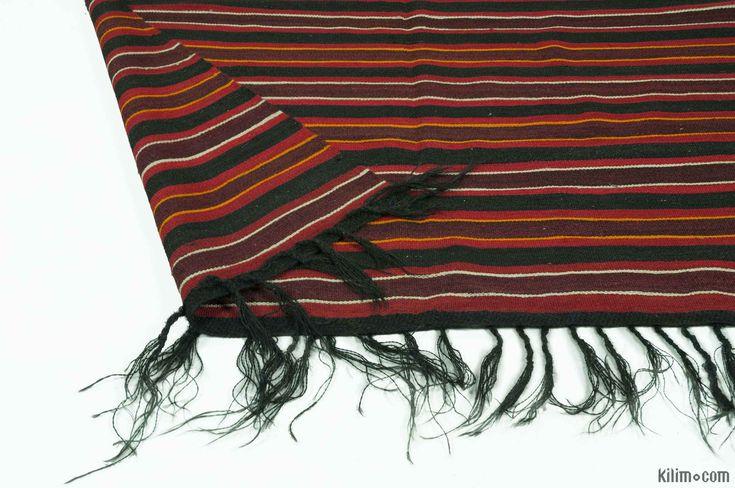 K0013289 Black, Red Vintage Turkish Kilim Rug   Kilim Rugs, Overdyed Vintage Rugs, Hand-made Turkish Rugs, Patchwork Carpets by Kilim.com