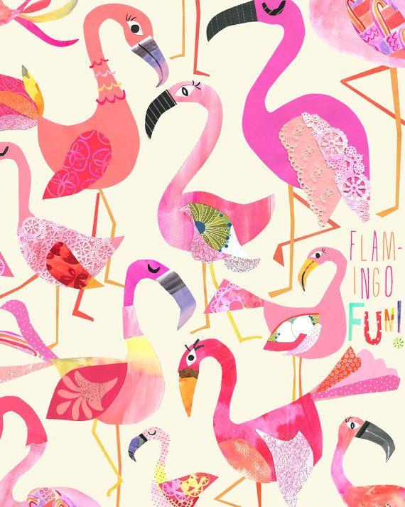 Flamingo Fun - Limited Edition Print