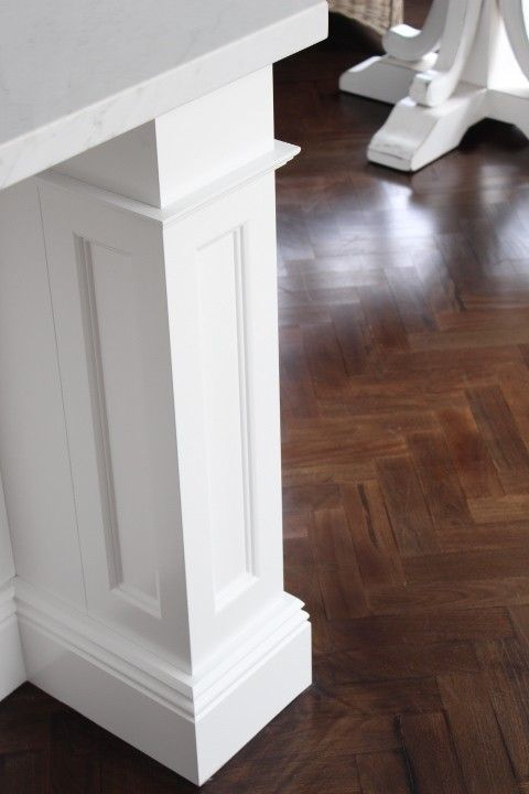 Cabinetry, island bench. Herringbone timber floor. Kitchen - Melinda Hartwright Interiors