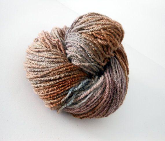 Mother Earth - Merino/Texel Wool 3 ply handspun yarn by EarthMother Designs.