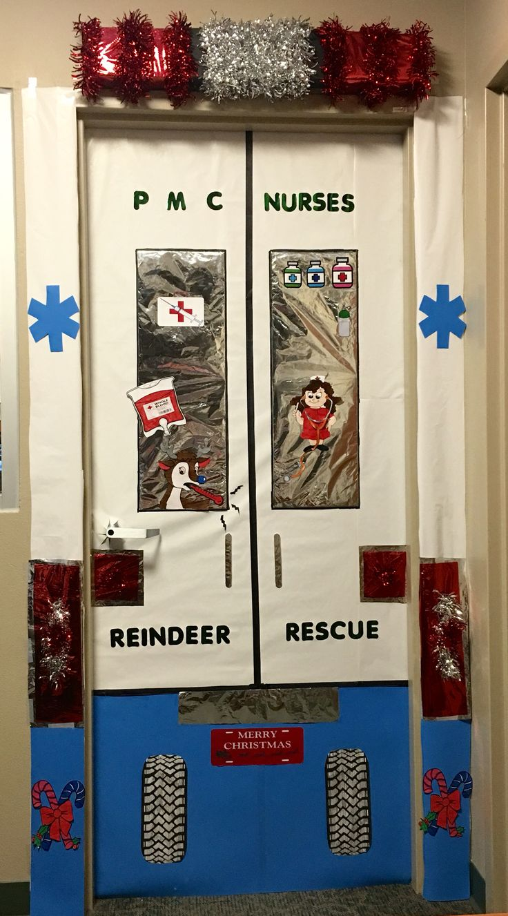 Christmas Door Contest Ems Reindeer Rescue Team Rudolph
