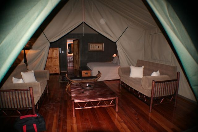 A peek inside these awesome luxury tents at Jackalberry Ridge near Kruger National Park in South Africa... not your typical tent! We loved them! http://www.jackalberryridge.info/
