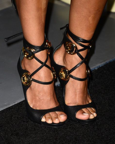 Halle Berry Strappy Sandals  Halle Berry's red carpet look was topped off with these lace-up strappy sandals.  Brand: Giuseppe Zanotti