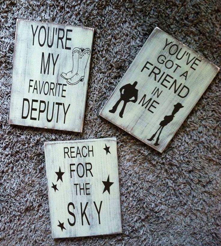 Toy Story theme - Kids room  Signs ** Custom Made By Kara's Custom Memories ** To order visit my FB... www.facebook.com/kcmcreativememories