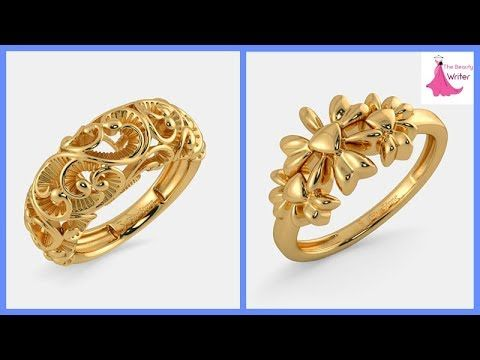 c405d12de Top Beautiful Designer GOLD RING For 2018 Images WITH Weight || Daily wear  Gold Ring for Girls - YouTube