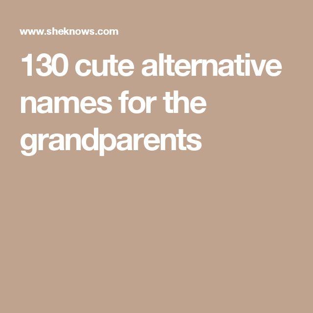 Grandparent Names