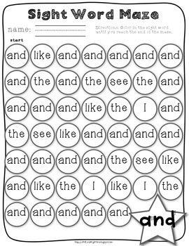 Kindergarten Sight Word Work: Journey's Edition