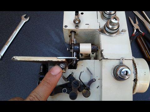 Ajuste de la overlock casera ( TIEMPOS, ENLACES, GRADUAR )   mecanica confeccion - YouTube
