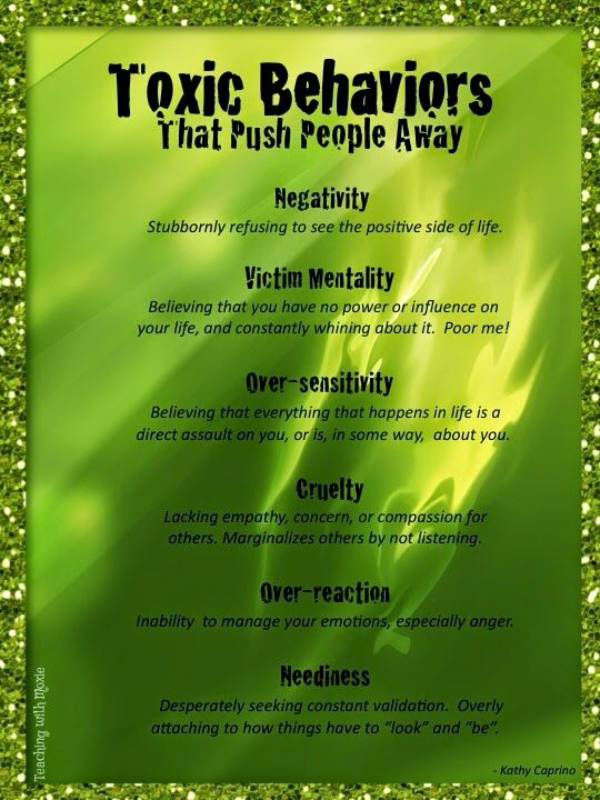Toxic Behaviors That Push People Away