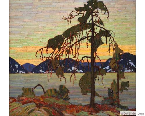 Painting Canada: Tom Thomson and the Group of Seven -   Tom Thomson, The Jack Pine, 1916-1917, Oil on canvas, 127.9 x 139.8 cm, National Gallery of Canada, Ottawa, Photo © NGC