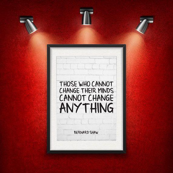 Bernard Shaw Inspirational Quote DIGITAL от MotivationalThoughts