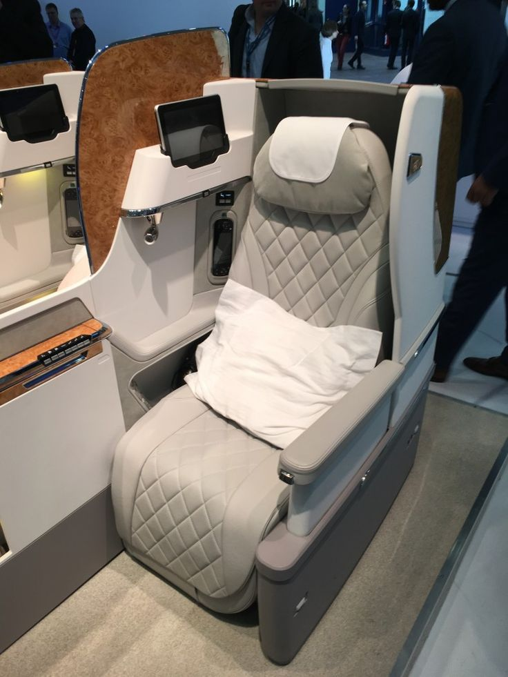 The new Emirates Boeing 777 business class seat Photo