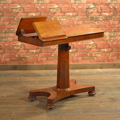 Antique-Dual-Reading-Table-Duet-Music-Stand-Adjustable-Bed-Table-English-c1870