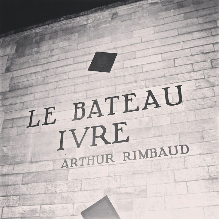 Le bateau ivre Arthur Rimbaud in Paris
