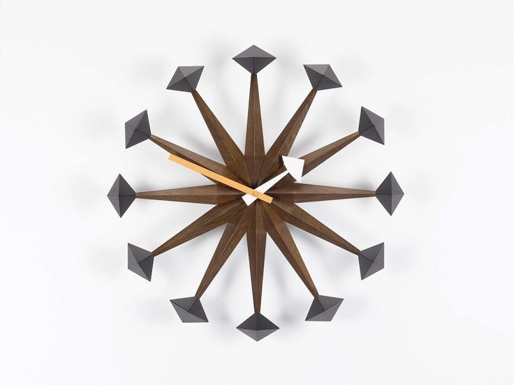 Polygon Clock by George Nelson  - Vitra Nelson Wall Clock - Designed by George Nelson, 1948-1960 Nelson Wall Clocks | Sapphire Spaces