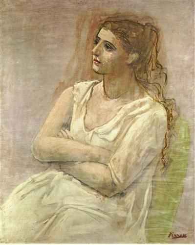 Seated woman with her arms folded (Sarah Murphy) - 1923 -Pablo Picasso