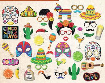 Imprimible Fiesta Mexicana foto Booth Props por PrintablePropShop