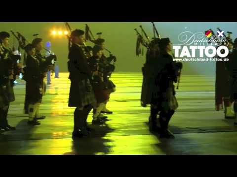 Deutschland Tattoo march-in Pipers Of The World Massed Pipes and Drums