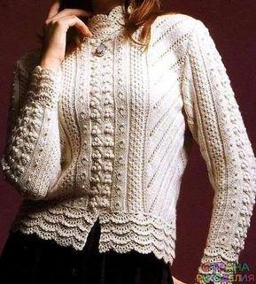 Кофточка - Жакеты,Пуловеры, свитера - Вязание спицами - Рукоделие