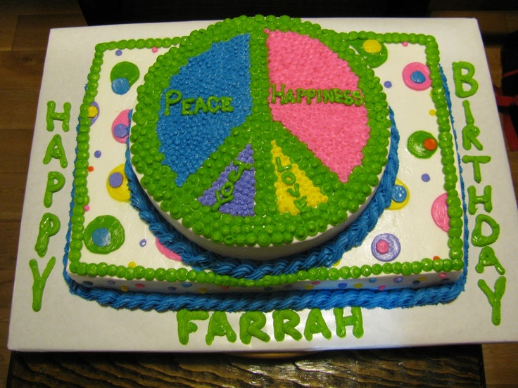 Cake Decorating Ideas Peace Sign : Image detail for -The Dessert Box: Farrah s