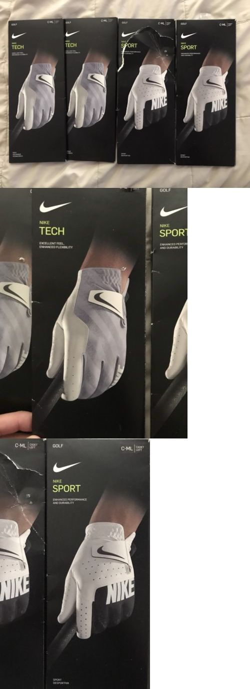 Golf Gloves 181135: 4 Pack New Nike Golf Mens Sport And Tech Leather Glove Left Hand Ml Cadet -> BUY IT NOW ONLY: $45 on eBay!