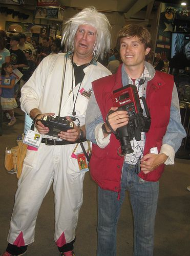 Marty McFly and doc brown fancy dress