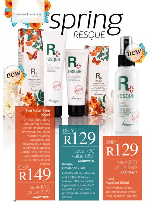 Annique September 2017 Beauté Foot Repair Balm, Circulation Gel, Insect Repellent Purchase any of these months awesome #Annique #Specials from our online store AND earn rewards while you're there. #rooibosmiracle  https://rooibos-miracle.co.za/store/
