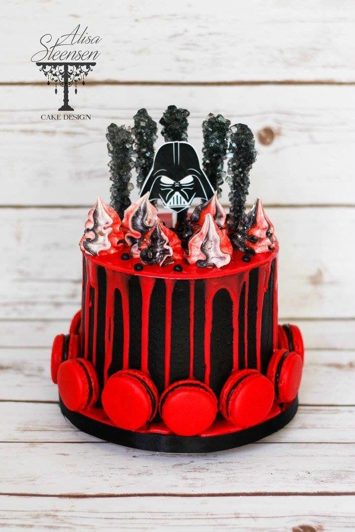 Darth Vader Cake inspired by Katherine Sabbath