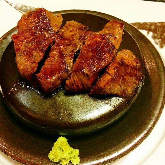前沢牛ヒレステーキ。東北も美味しいものが多すぎる•••。Filet of Maezawa beef with wasabi. Very deliciously Japanese.  #前沢牛 #ステーキ #岩手 #東北 #日本グルメ #シリーズ日本 #maezawabeef #beef #iwate #tohoku #japanesegourmet #Japan #SeriesJapan #ExquisitelyJapan