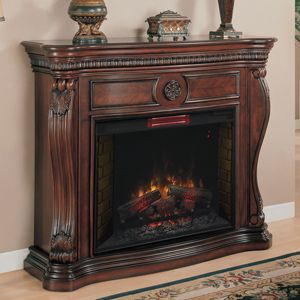 lexington 33in infrared empire cherry electric fireplace cabinet mantel package 33wm881c232 - Electric Fireplaces Clearance