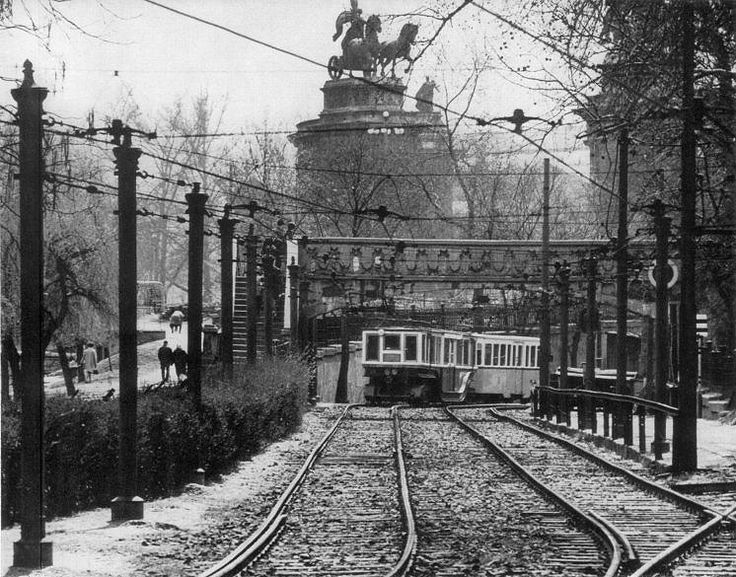 Budapest, 1960s when the M1 line's terminal was in the city park.