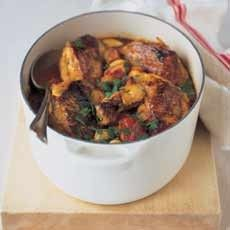 Spanish Chicken with Butter Beans, Chorizo and Tomatoes                                                                                                                                                                                 More