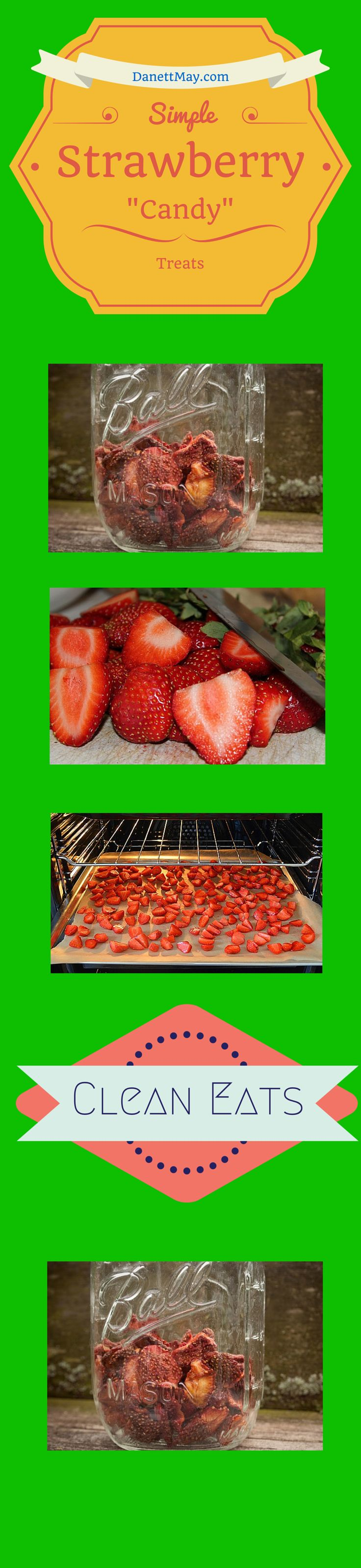 """Simple and Sweet  Strawberry """"Candy"""" made right in your oven.  Dehydrated Strawberries 