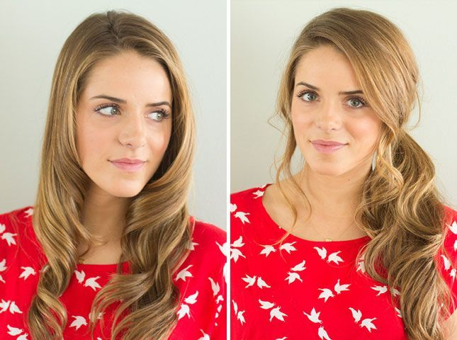 Vintage Curls + Messy Side Pony | 28 DIY Hairstyles