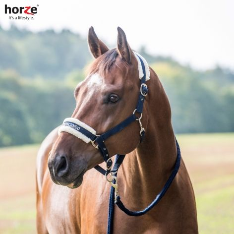 Horze Howard Headcollar, £14.99. Sheepskin padded for extra comfort and style