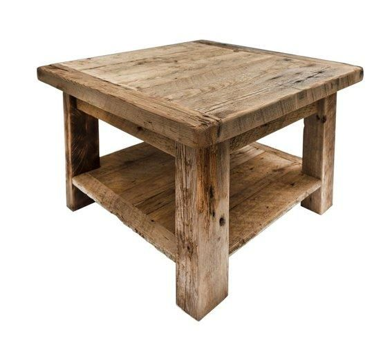 This barn board coffee table is the perfect rustic element for your home decor.