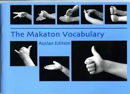 australian makaton signs - I have this book myself and this picture is important as my child had conductive hearing loss as an infant/toddler and was required to learn makaton in order to communicate.
