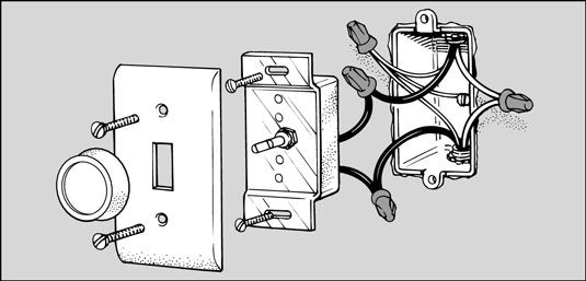 How to Replace a Light Switch with a Dimmer by Dummies.com