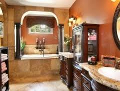 Really like the burnt orange bathroom
