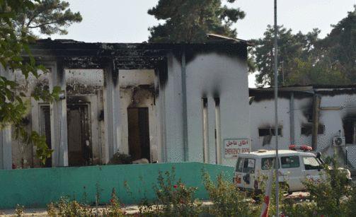 Yhdysvaltojen sotilaat pommittivat Lääkärit ilman rajoja -järjestön klinikkaa Afganistanin Kunduzissa lokakuussa.