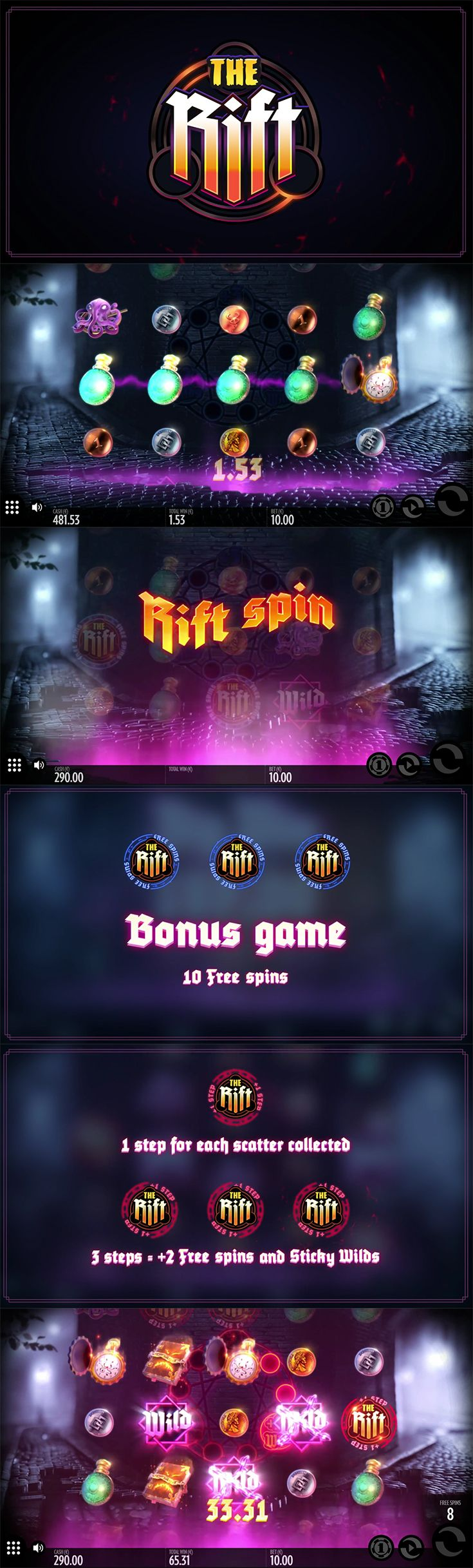 Kick off your weekend with a dark and magical slot. Play The Rift by Thunderkick for free! Visit The SpinRoom.  --  #Free #Slot #OnlineCasino