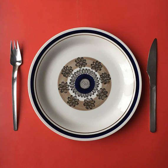 Vintage Gefle Sweden ceramic dinner plate named Orion
