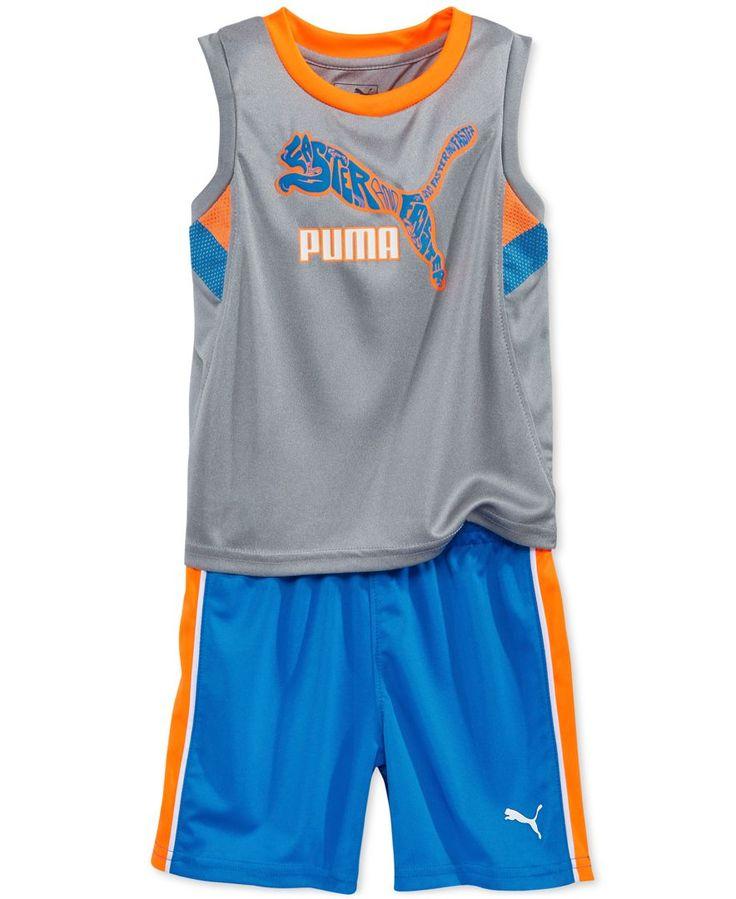 Puma Little Boys' Logo Tank & Shorts Set - Sets & Outfits - Kids & Baby -  Macy's