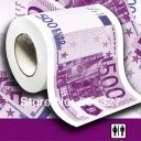 Vianočné darčeky Toaletný papier 500 Euro