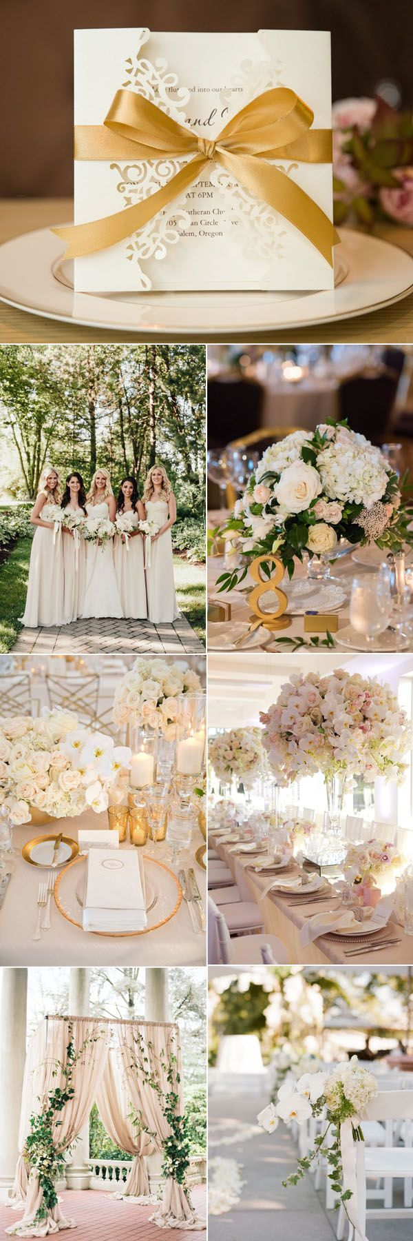 Elegant Ivory and Gold Wedding Inspiration and