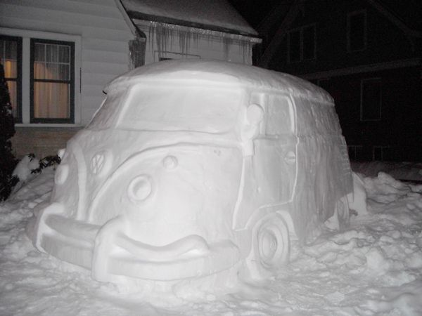 Weekend Project: VW Camper Snow Sculpture: Your Pictures