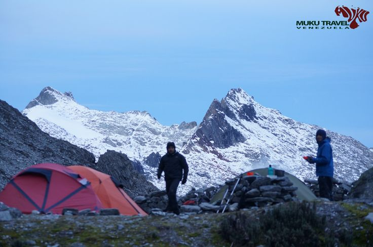 Humboldt and Bonpland Peaks from Bolivar Peak base camp in Sierra Nevada National Park, Merida, #venezuela #meridapreciosa #trekking #hiking #climbing #camping #adventure #extreme #outdoors #snow #glaciar  #aventura #turismodeaventura #justgo #earthonlocation #enlomasalto #cumbres #viajaparati