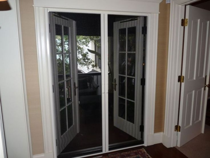 Doors French Door White With Color Screens For Doors That Are Not Too Large  Choosing French