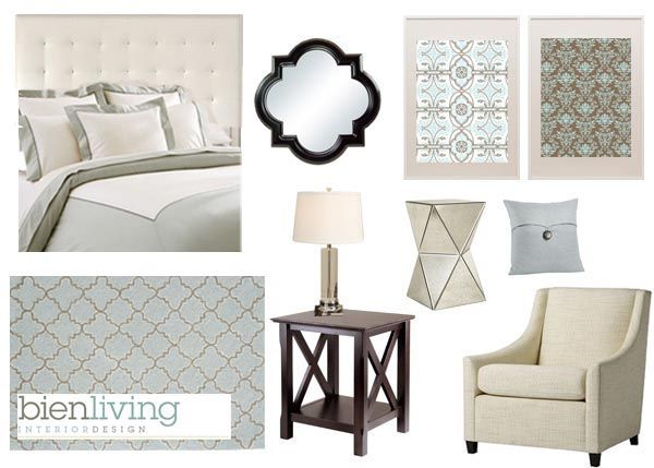 Interior Design Presentation Board Modern Glam Master Bedroom Via Bien Living